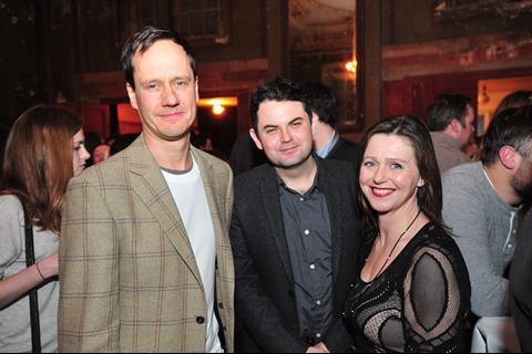 Diarmud Scrimshaw (producer), Leon Forde (SPI Olsberg) and Harriet Rees (producer)